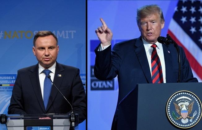 Andrzej Duda; Donald Trump. Photos: PAP/Radek Pietruszka