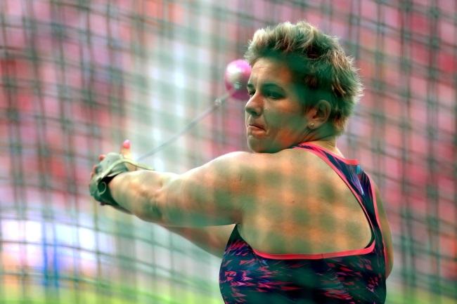 Anita Włodarczyk in action during the Warsaw meet. Photo: PAP/Leszek Szymański