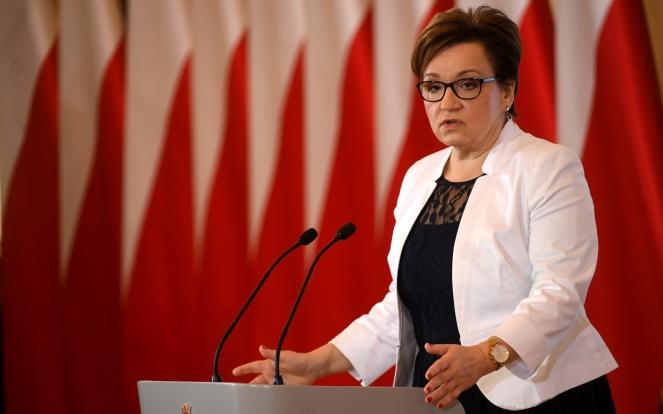 Міністр національної освіти Польщі Анна Залєвська