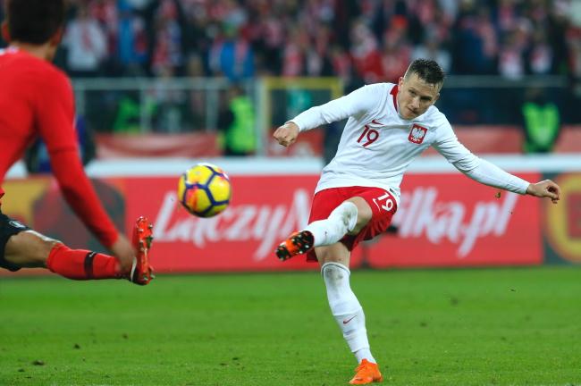 Piotr Zieliński's winning goal. Photo: PAP/Andrzej Grygiel.