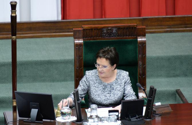 Ева Копач в Зале заседаний Сейма