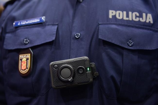 Police body camera. Photo: PAP/Jakub Kamiński