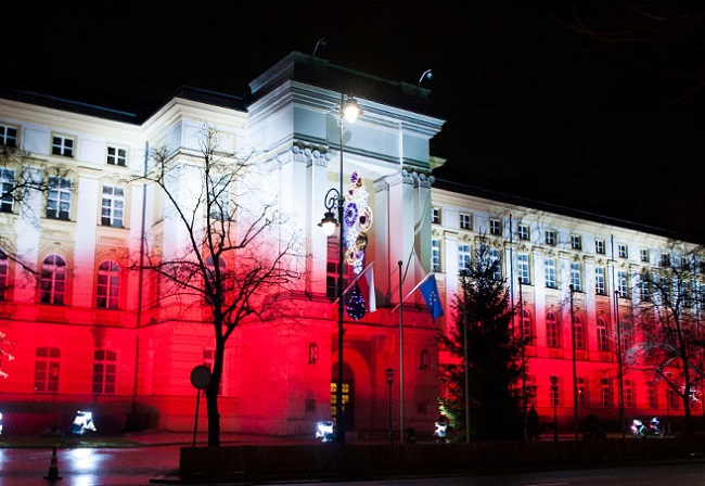 The Polish Prime Minister's Office in Warsaw. Photo: KPRM/Chancellery of the Prime Minister of Poland [Public domain], via Wikimedia Commons