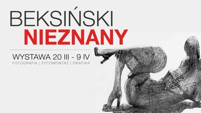 """Плакат выставки """"Неизвестный Бексиньский""""."""