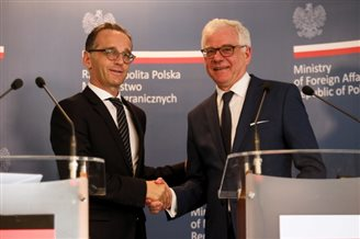 Polish, German FMs meet for talks