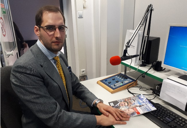 Stanisław Raźniewski, chairman of the Polish-Georgian Chamber of Industry and Commerce in the Radio Poland studio.