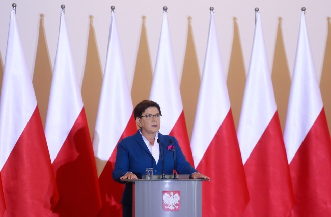 PM Beata Szydło addresses Poland's ambassadors in Warsaw on Thursday. Photo: PAP/Paweł Supernak
