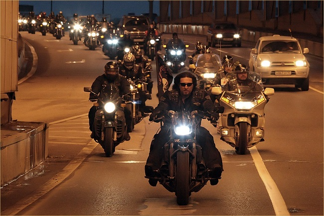 The Night Wolves biker club has around 5,000 members. Photo: cc/Wikimedia Commons