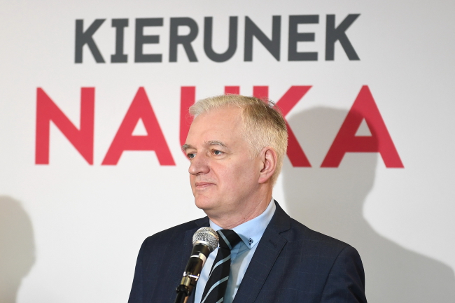 Jarosław Gowin. Photo: PAP/Marcin Kmieciński