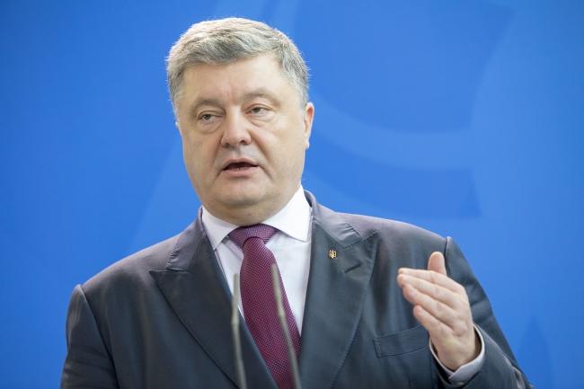 Президент України Петро Порошенко під час візиту до Берліна, 10 квітня 2018 року