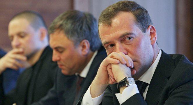 Dmitrij Miedwiediew podczas spotkania z opozycją w Gorki. Fot. PAP/EPA/Ekaterina Shtukina