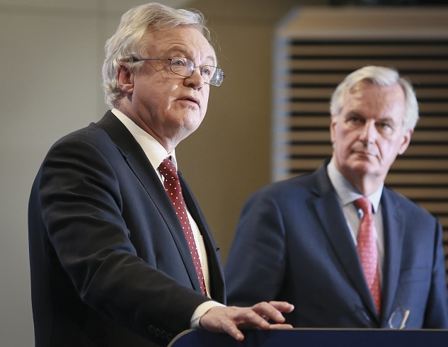 Michel Barnier i David Davis