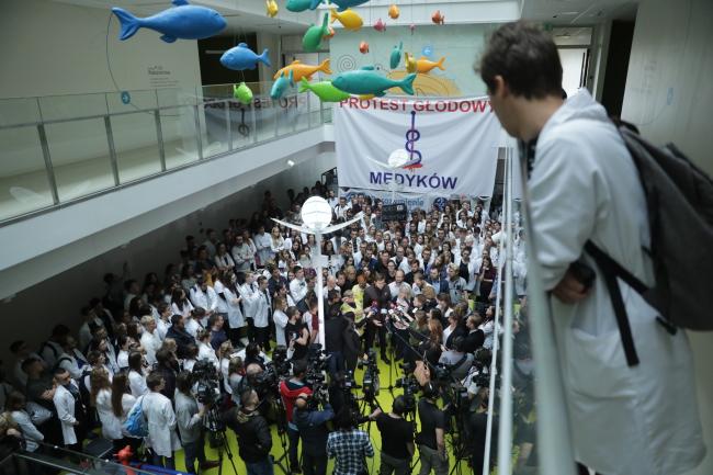 Варшава: протест лікарів-резидентів