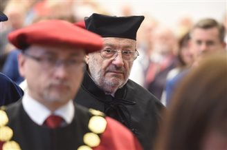 Umberto Eco receives honorary doctorate from Łódź University