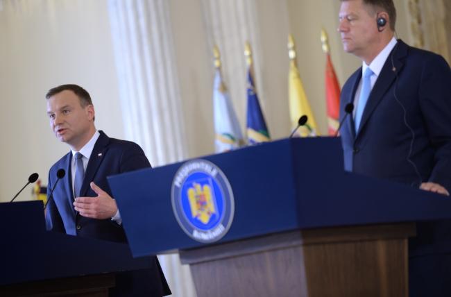 Президент Польши Анджей Дуда и президент Румынии Клаус Йоханнис.