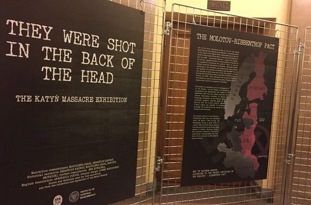 Wystawa o zbrodni katyńskiej w Rydze