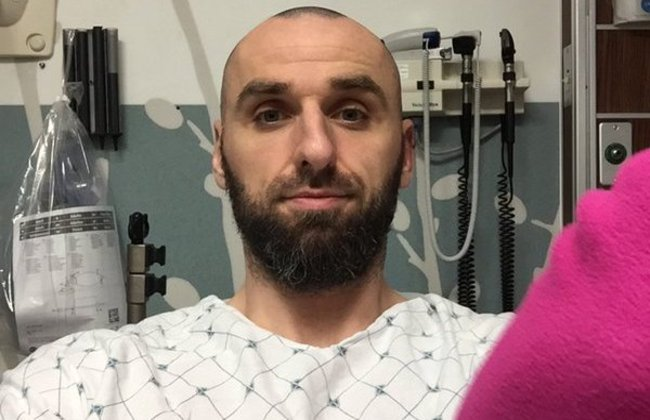 Marcin Gortat in hospital. Photo: twitter.com/MGortat