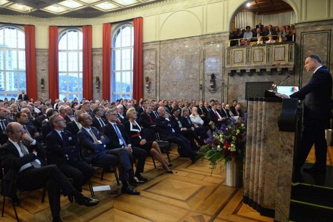 Polish President Andrzej Duda speaks at the University of Zurich on Tuesday. Photo: PAP/Jacek Turczyk