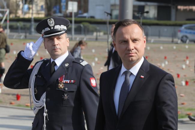 President Andrzej Duda (right). Photo: PAP/Paweł Supernak