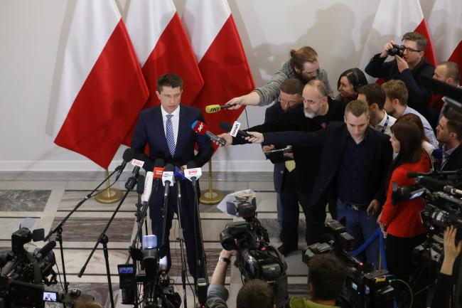 """Лидер партии """"Современная"""" Рышард Петру. Фото: PAP/Rafał Guz"""