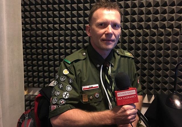 Harcmistrz Adam Niemkiewicz, komendant Harcerskiego Ochotniczego Pogotowia Ratunkowego