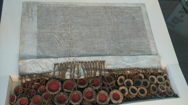Арыгінальны акт заключэньня Люблінскай уніі