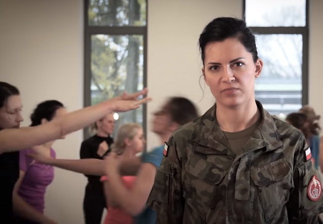 Still from a video promoting the self-defence programme. Photo: mon.gov.pl