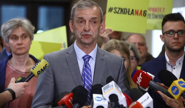 Глава Союза польских учителей Славомир Броняж