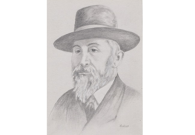 Chaim Eiss (1876-1943). Image: Zbigniew Popadiuch [CC0], via Wikimedia Commons, drawn on the basis of a prewar photo by an unknown author