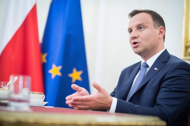 Новоизбранный президент Польши Анджей Дуда.