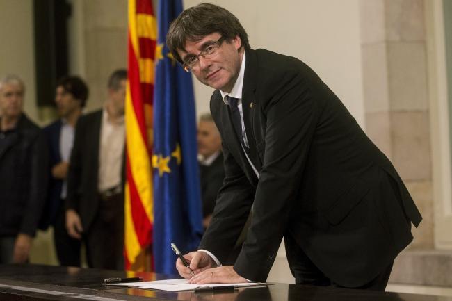 Каталонский премьер-министр Карлес Пучдемон.
