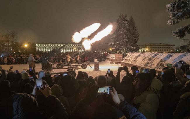 Памятные церемонии по случаю 75-й годовщины снятия блокады Ленинграда