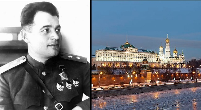 The decision to take down the monument of Gen Chernyakhovsky (L) angered the Kremlin. Photo: Collage/Wikimedia Commons