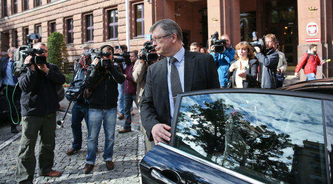 Russian Ambassador in Warsaw at Poland's foreign ministry on Monday. Sergei Andreyev PAP/Rafał Guz