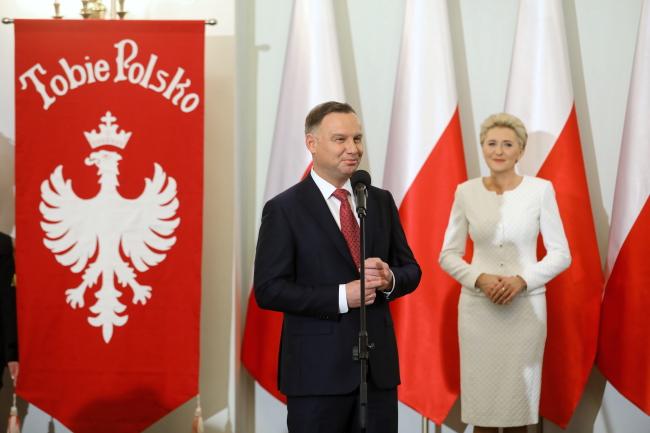 Polish President Andrzej Duda and First Lady Agata Kornhauser-Duda