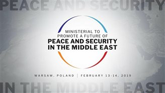 "Hopes for Middle East conference to start a ""Warsaw peace process"""