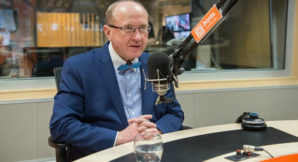 Профессор Хенрик Скаржиньский в студии Польского Радио