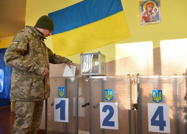 Президентские выборы в Украине. Голосование в окрестностях Львова