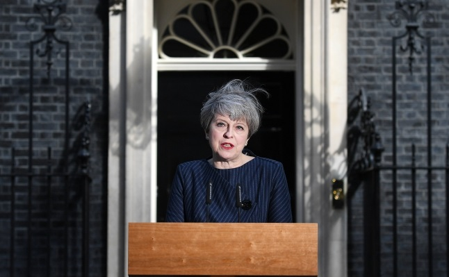British Prime Minister Theresa May. Photo: EPA/ANDY RAIN