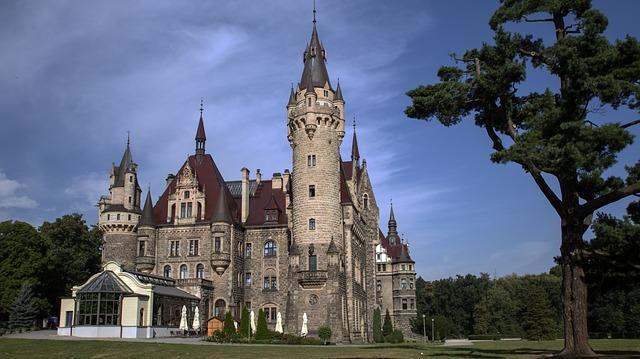 Замак у вёсцы Мошна.
