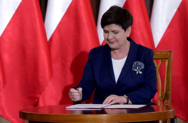 PM Beata Szydło. Photo: PAP/Tomasz Gzell