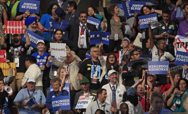 Съезд Демократической партии США.
