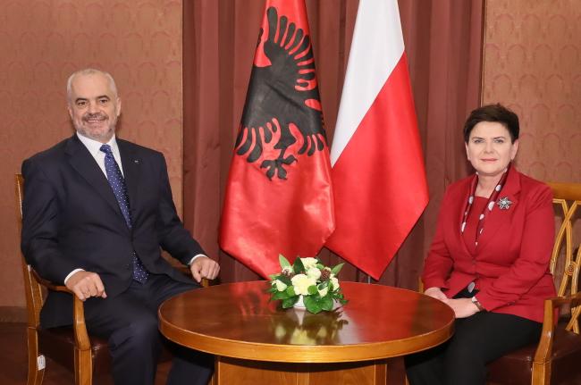 Кіраўнік урада Альбаніі знаходзіцца ў Польшчы з афіцыйным візытам.