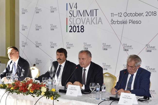 Саміт президентів країн Вишеградської групи, 12 жовтня 2018 року