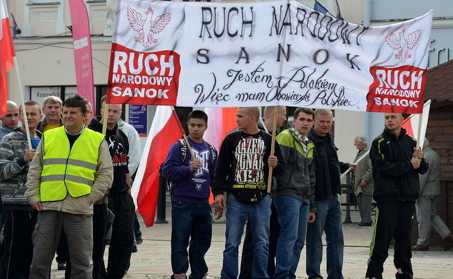 Members of Poland's National Movement (Ruch Narodowy). Photo: wikimedia commons/Silar