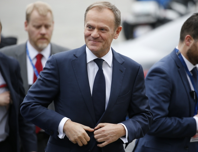 Donald Tusk has been chosen to head the European Council for a second term. Photo: EPA/JULIEN WARNAND