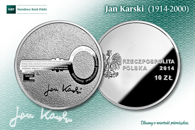 The Jan Karski coin issued by the NBP. Photo: NBP