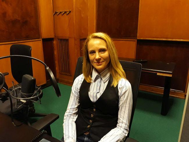 Светлана Агошкова в студии Польского Радио