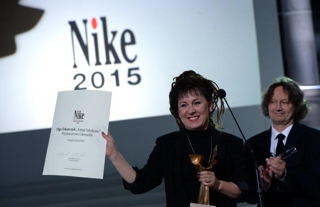 Olga Tokarczuk picked up her prize on Sunday. Photo: PAP/Jacek Turczyk