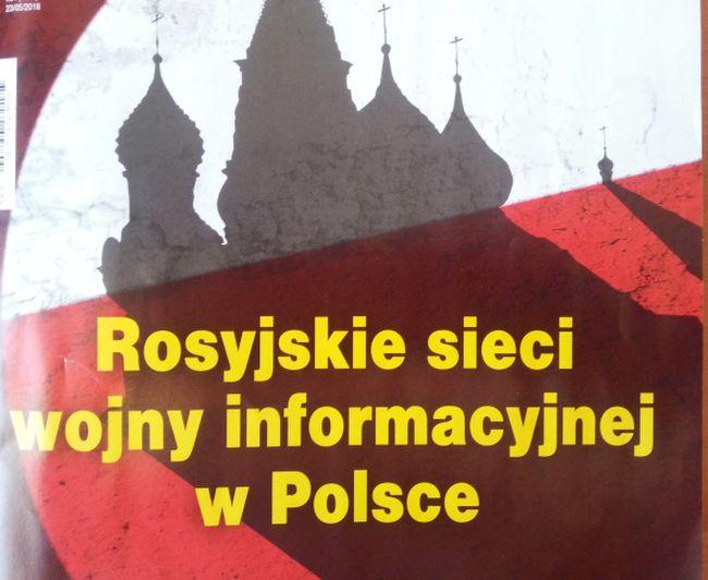 """Фрагмент обложки еженедельника Gazeta Polska , где опубликована статья """"Кремлевский спрут""""."""